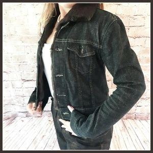 Theory Rabbit Fur Vest-Lined Jean Jacket